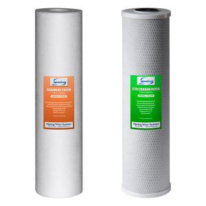 ISPRING 2-Piece Replacement Filter Pack for 2-Stage 20 inch Big Blue Whole House Water Filtration System by ISPRING