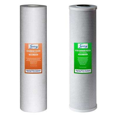 2-Piece Replacement Filter Pack for 2-Stage 20 in. Big Blue Whole House Water Filtration System
