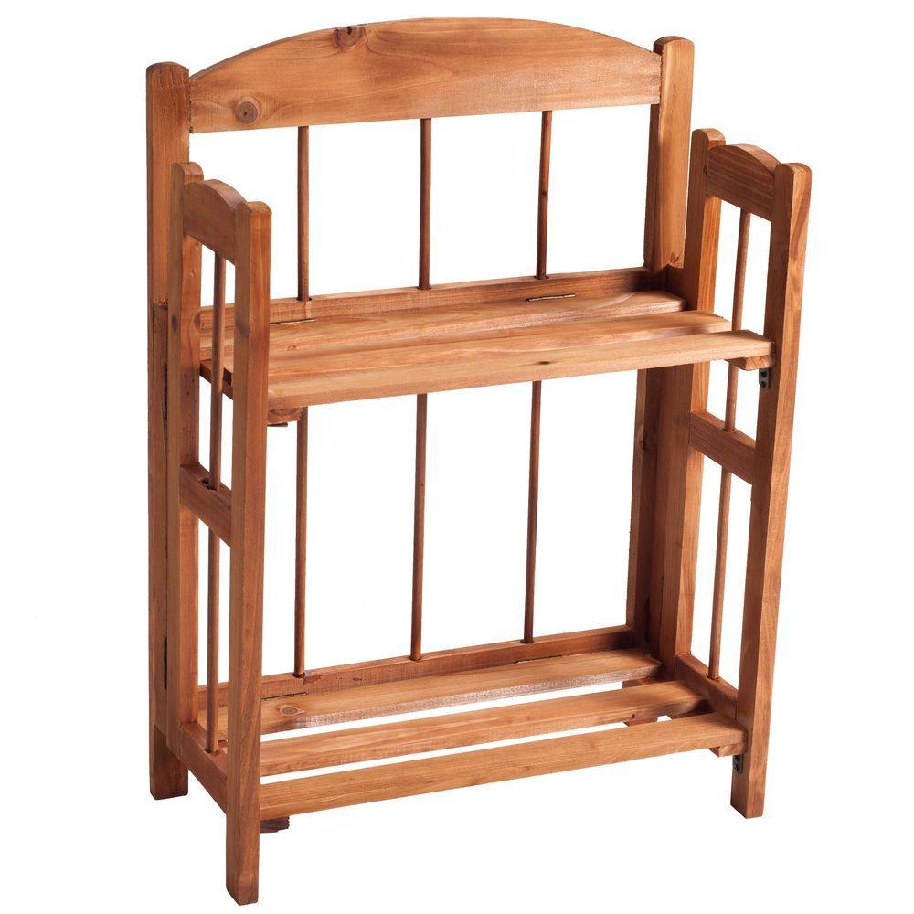 Lavish Home Brown Open Bookcase