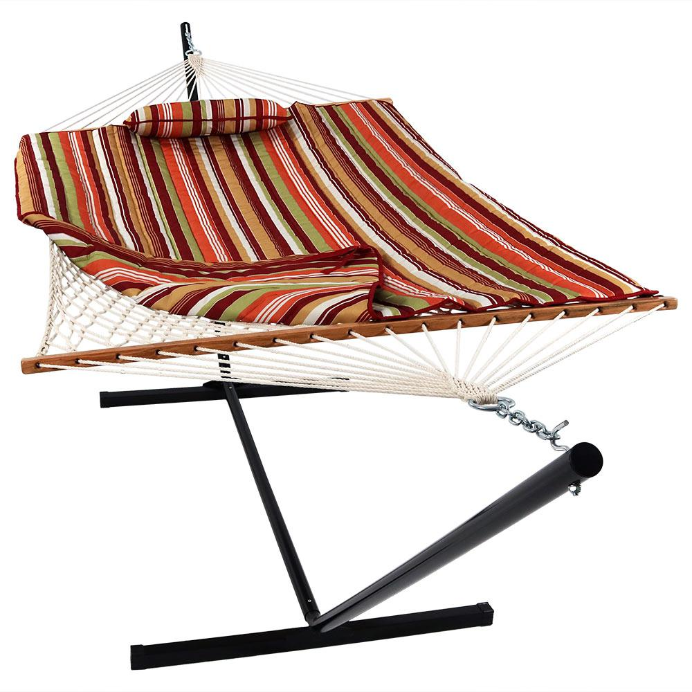 Sunnydaze Decor 12 Ft Rope Hammock Bed Combo With Stand