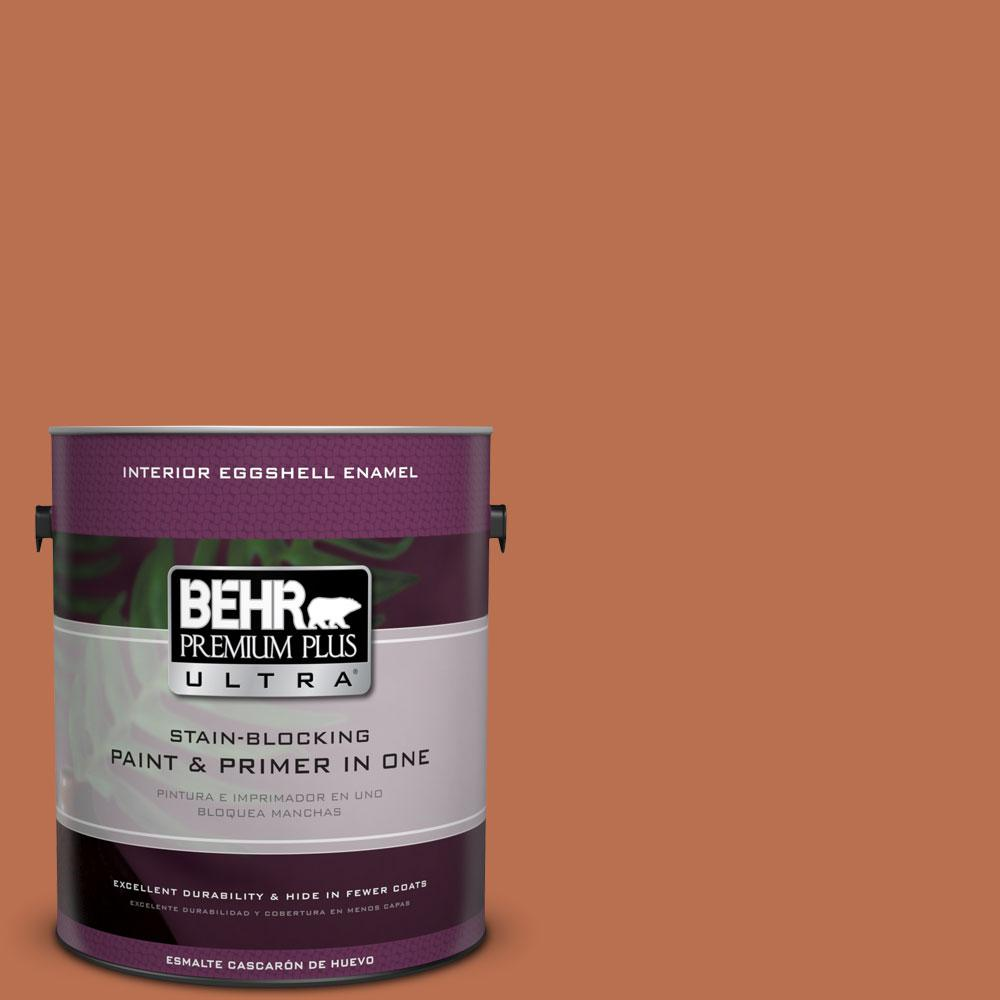 1 gal. #230D-6 Iced Tea Eggshell Enamel Interior Paint and Primer