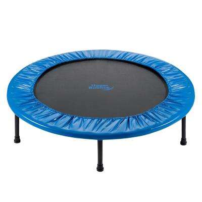 36 in. 2-Way Foldable Rebounder Trampoline Included with Carry-on Bag
