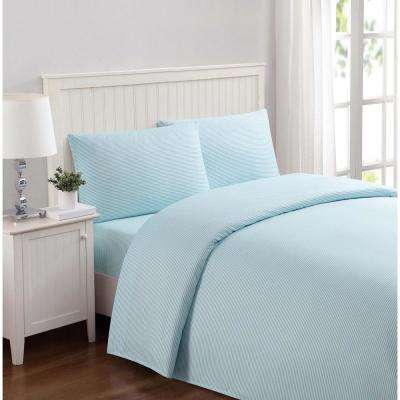 Everyday Stripe Aqua Full Sheet Set