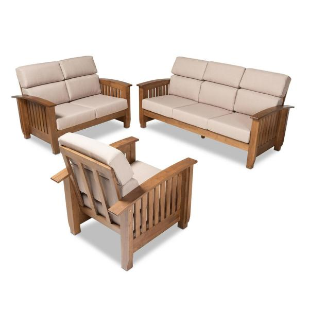 Charlotte 3-Piece Taupe Upholstered Living Room Set