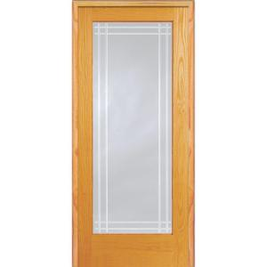 Mmi Door 30 In X 80 In Right Hand Unfinished Pine Glass