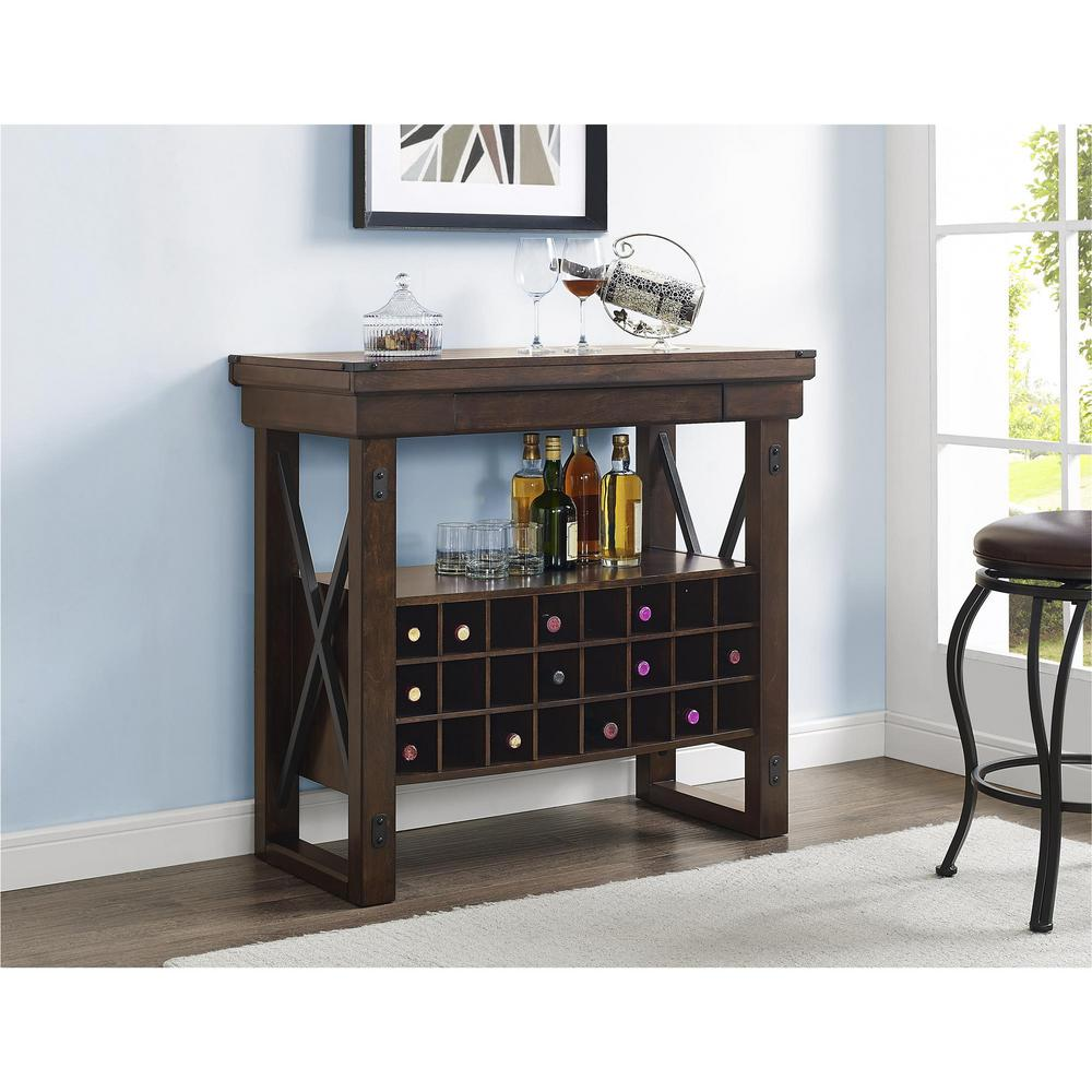Altra Furniture Wildwood Mahogany Bar