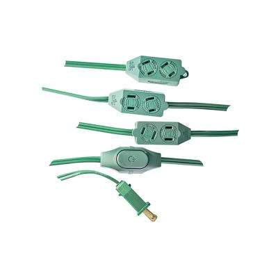 9-Outlet 18/2 Extension Cord, Green