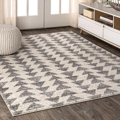 Gray Minimalist Area Rugs Rugs The Home Depot