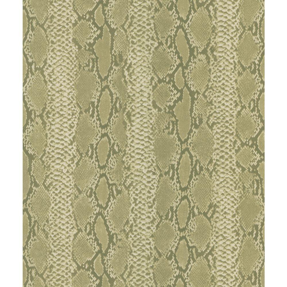 National Geographic Olive Python Snake Skin Wallpaper Sample