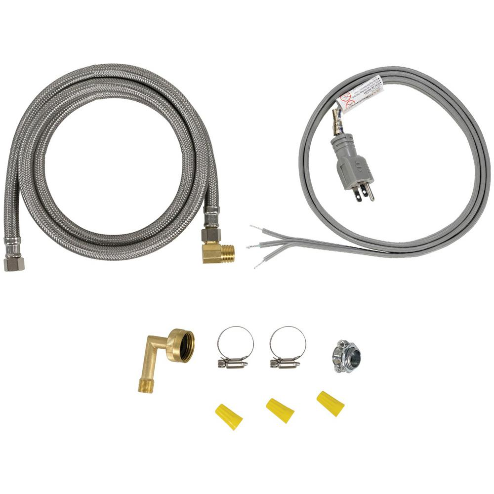 Certified Appliance Accessories Dishwasher Installation Kit With Straight Plug Head Dwkitst The Home Depot