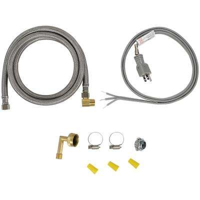 Dishwasher Installation Kit with Straight Plug Head