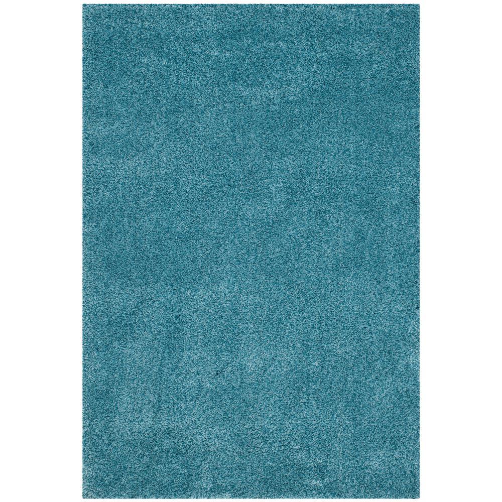 San Juan Turquoise Accent Rug: Safavieh California Shag Turquoise 3 Ft. X 5 Ft. Area Rug