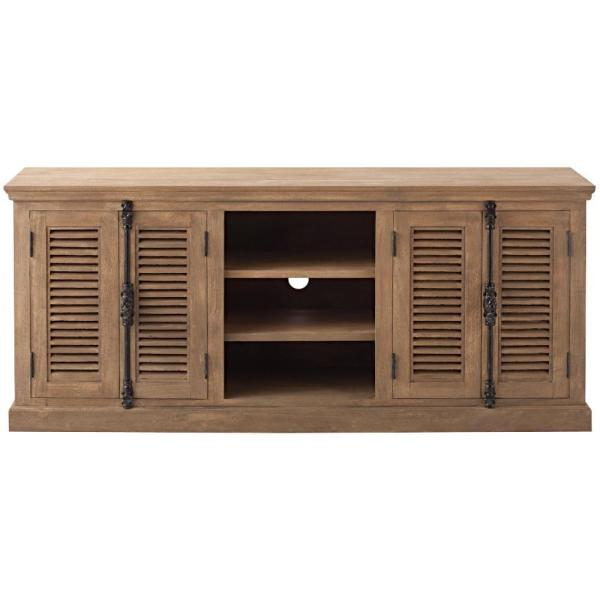 Highland Sandblasted Natural Storage Entertainment Center
