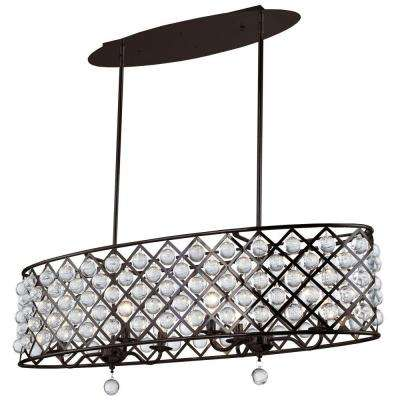 Carelton 6-Light 38 in. Espresso Chandelier