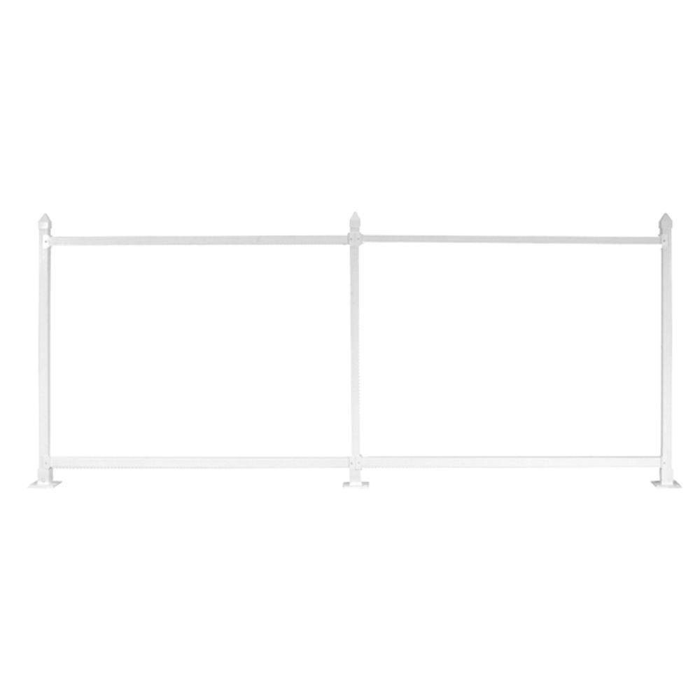 Snapfence 3 Ft X 8 Ft White Vinyl Fence Standard Starter