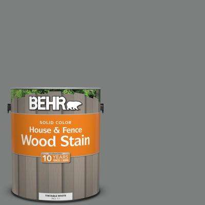 1 gal. #6695 Slate Gray Solid Color House and Fence Exterior Wood Stain