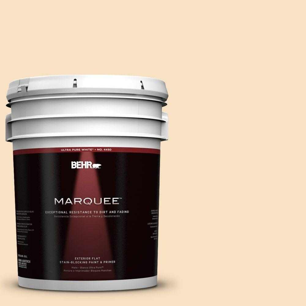 BEHR MARQUEE 5-gal. #310E-2 Stable Hay Flat Exterior Paint