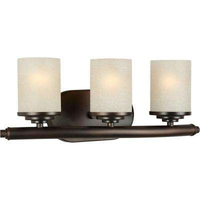 Oralee 3-Light Antique Bronze Bath Vanity Light