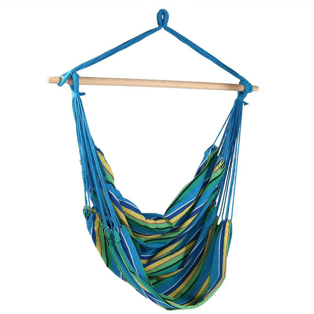 5 ft. Jumbo Hanging Hammock Swing Bed in Ocean Breeze