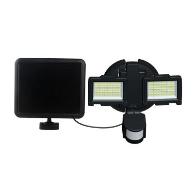 120 Integrated LED Black Dual Head Outdoor Solar Motion Activated Security Flood Light
