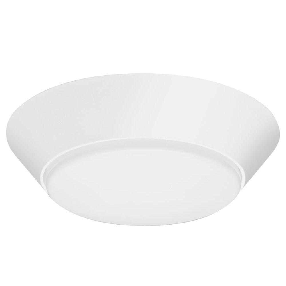 Lithonia Lighting Versi Lite 9 Watt Textured White Integrated Led Flush Mount