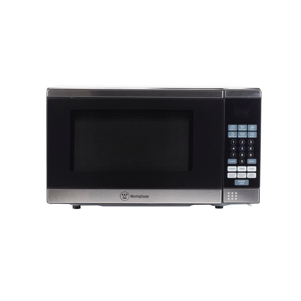 Westinghouse 0 7 Cu Ft Countertop Microwave In Black Stainless Steel