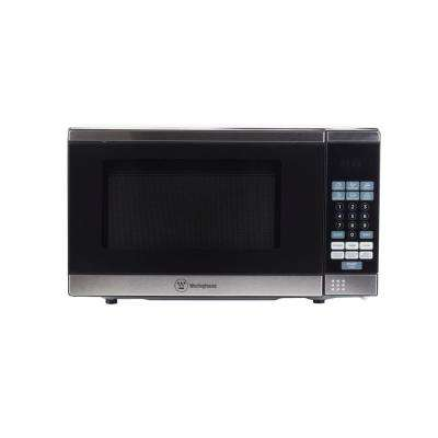 0.7 cu. ft. Countertop Microwave in Black/Stainless Steel