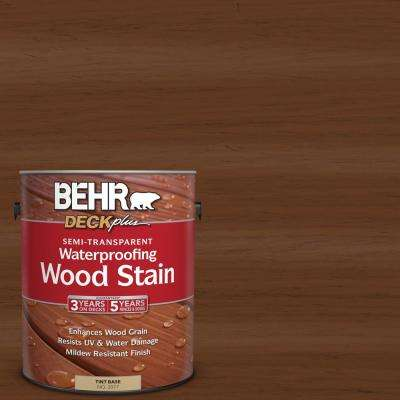 1 gal. #ST-110 Chestnut Semi-Transparent Waterproofing Wood Stain