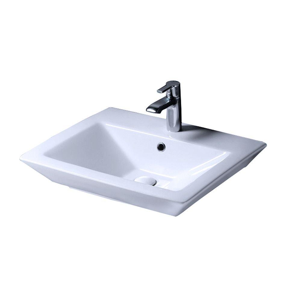 Barclay Products Aristocrat 18-1/2 in. Pedestal Sink Basin in White ...