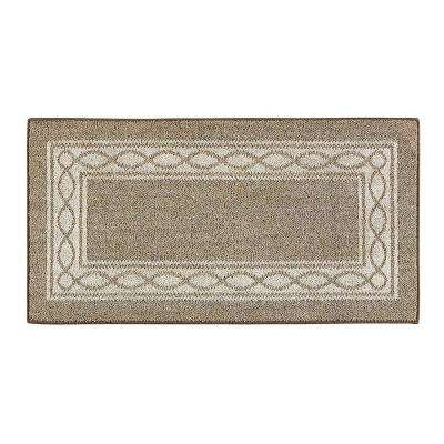 Sparrow Hazel Nut Bone White 2 ft. x 4 ft. Area Rug