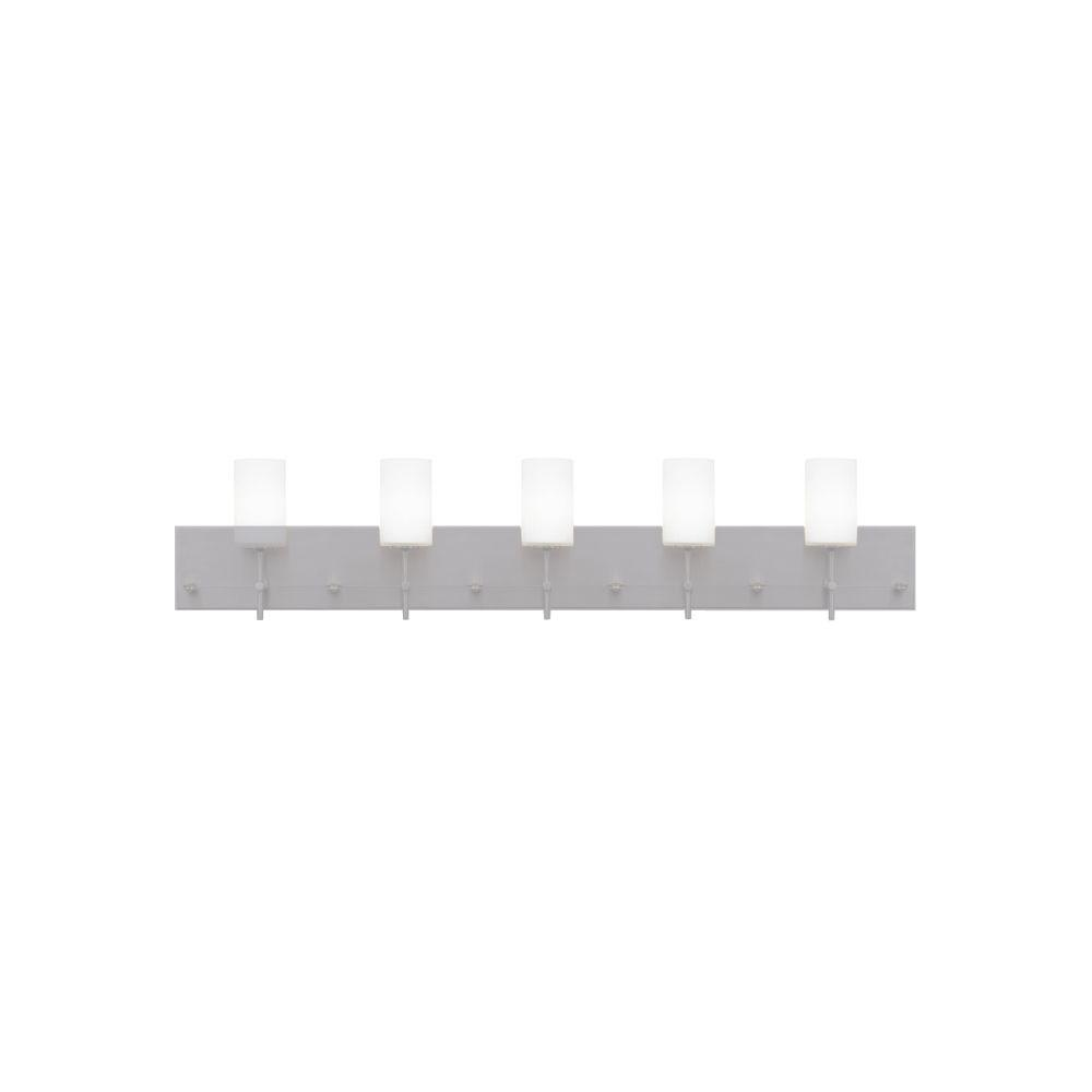 LBL Lighting Oliver 5-Light Polished Chrome/Brass Halogen Vanity Light