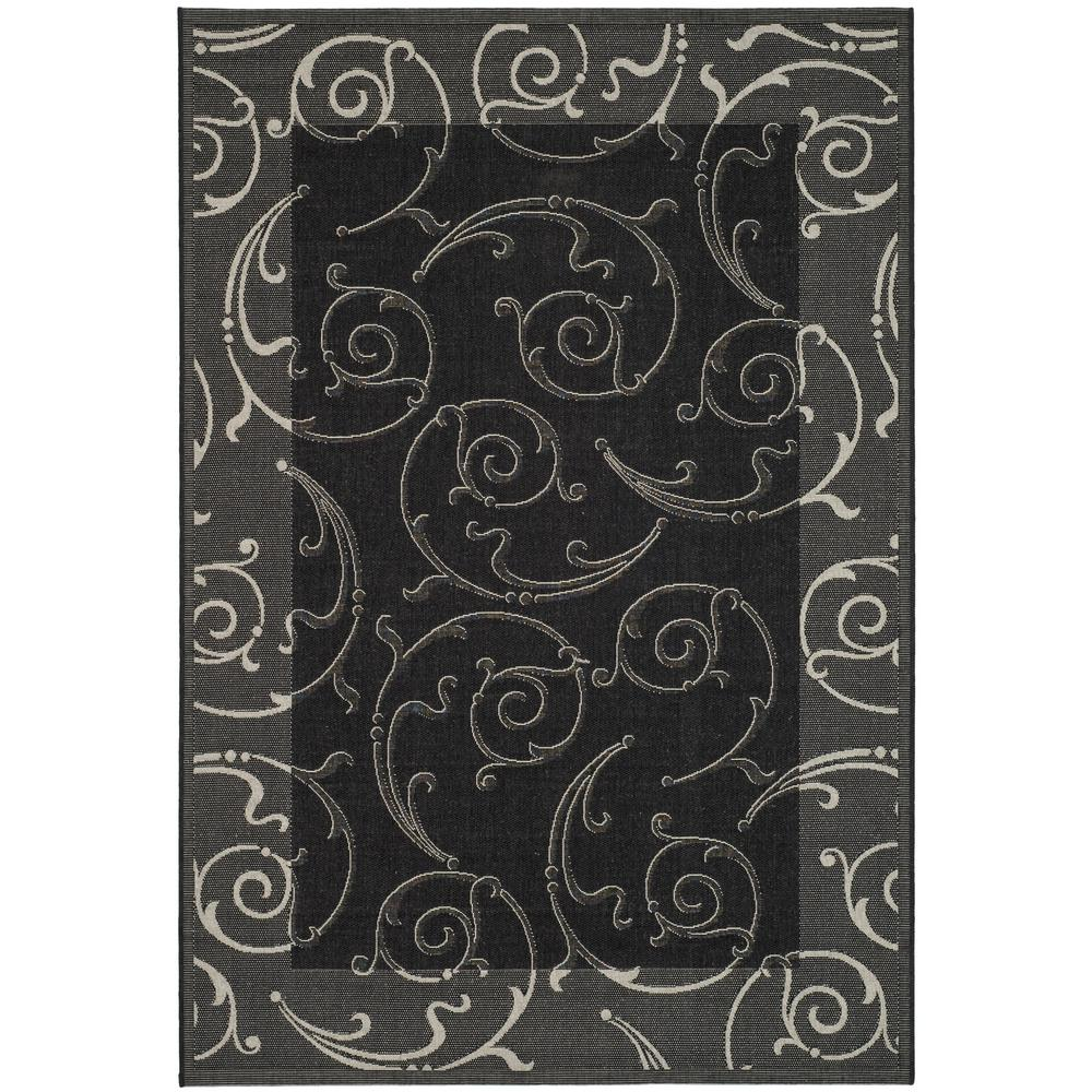 Safavieh Courtyard Black/Sand 4 ft. x 5 ft. 7 in. Indoor/Outdoor Area Rug