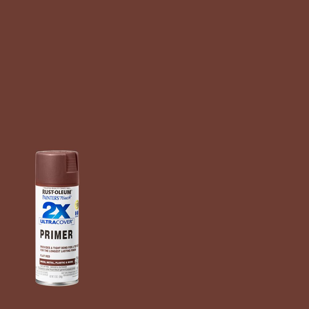 Rust-Oleum Painter's Touch 2X 12 oz  Flat Red Primer General Purpose Spray  Paint