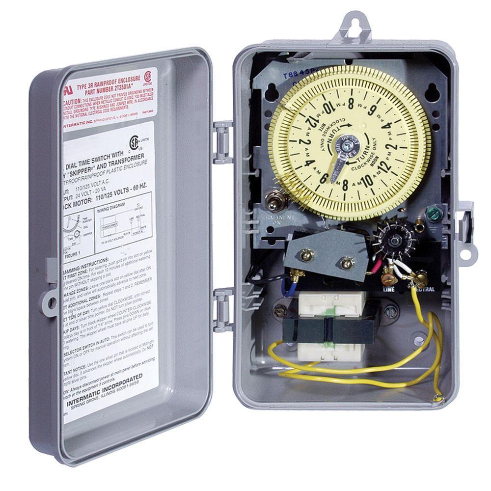 T8800 Series 125-Volt Input with 24-Volt Output Indoor/Outdoor Irrigation/Sprinkler Timer