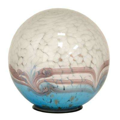 7 in. Gazing Ball Art Glass Solar