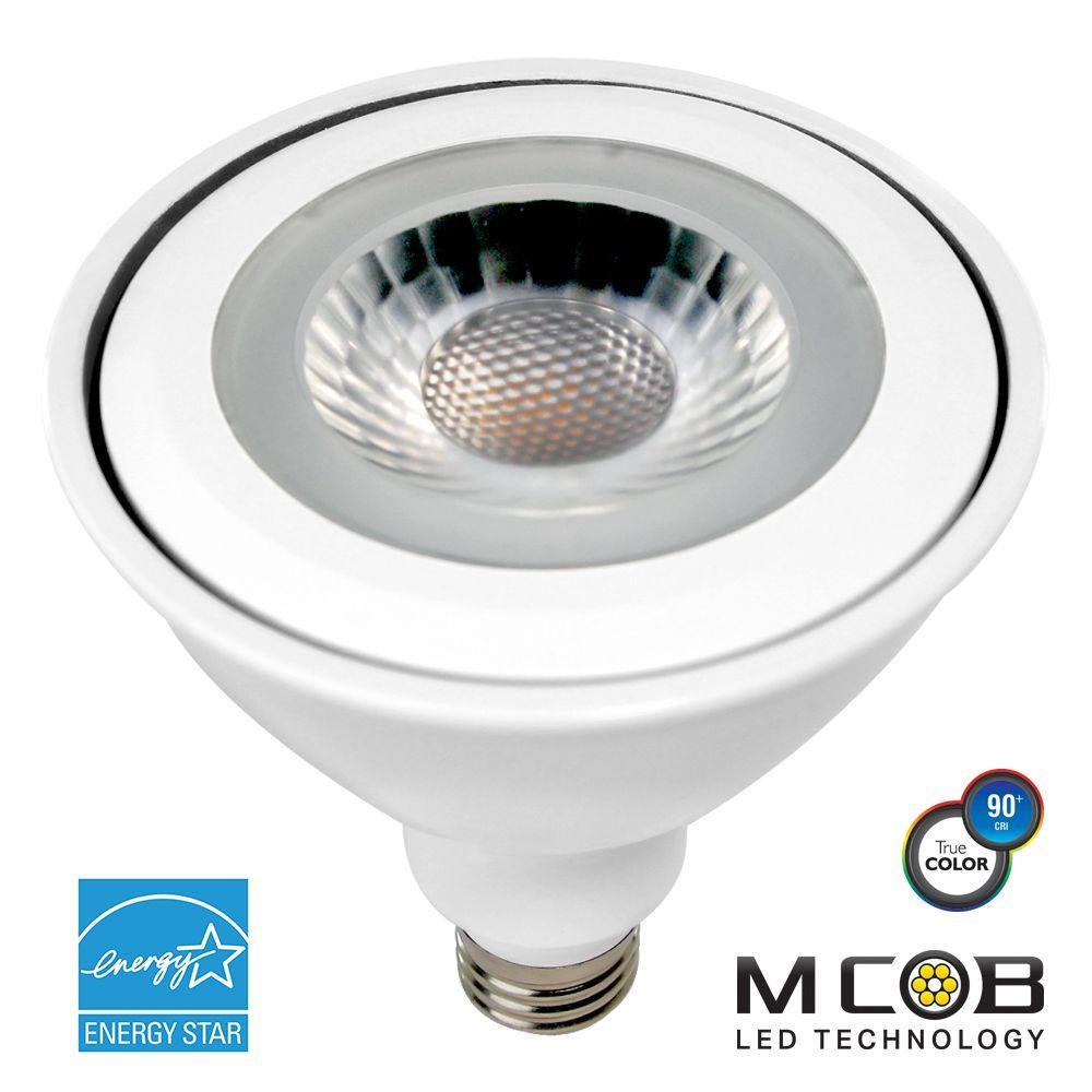 100W Equivalent Soft White (3,000K) PAR38 Dimmable MCOB LED Flood Light