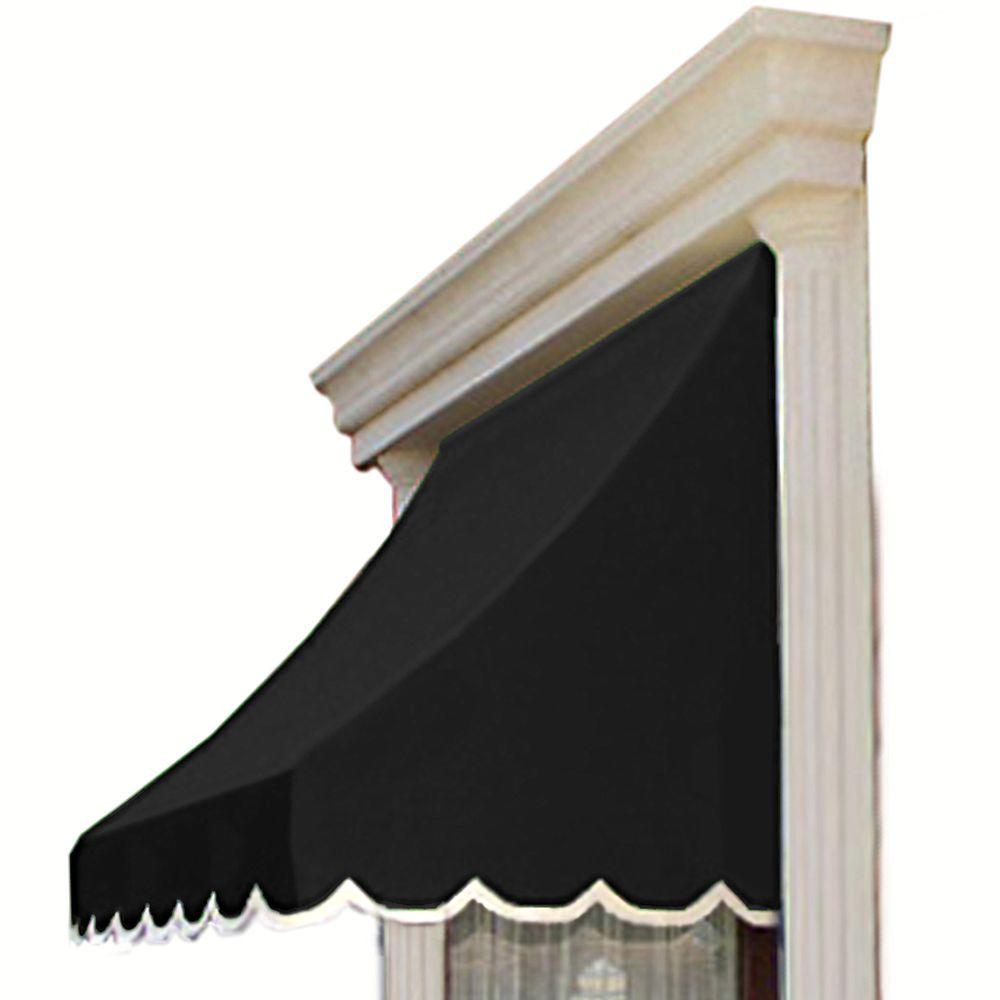 AWNTECH 5 ft. Nantucket Window/Entry Awning (56 in. H x 48 in. D) in Black
