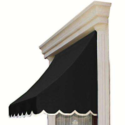 6.38 ft. Wide Nantucket Window/Entry Awning (44 in. H x 36 in. D) in Black