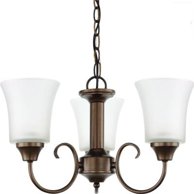 Holman 3-Light Bell Metal Bronze Chandelier