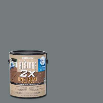1 gal. 2X Gray Solid Deck Stain with NeverWet