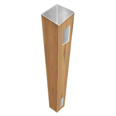 5 in. x 5 in. x 8-1/2 ft. Cypress Vinyl Fence End Post