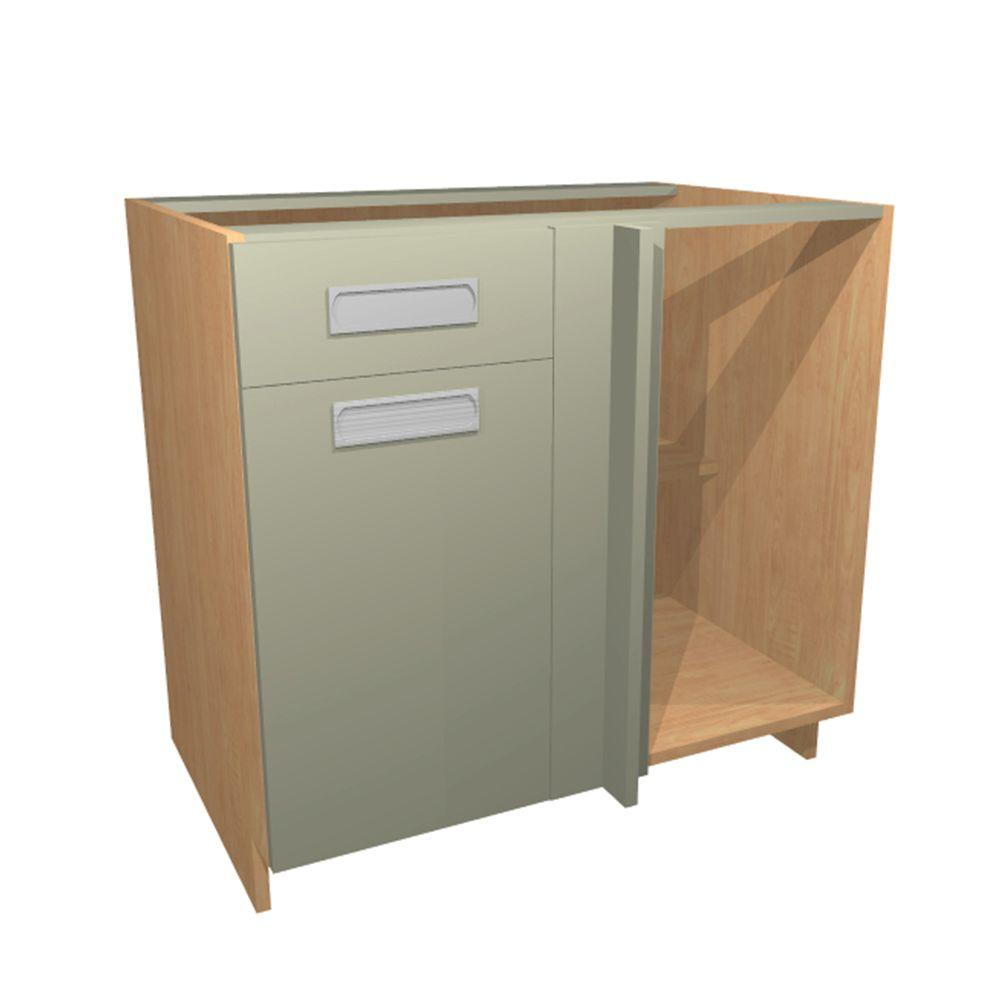 Genoa Blind Base Corner Cabinet With 1 Soft Close Door And 1 Soft Close  Drawer In Almond BBC42 GAL   The Home Depot