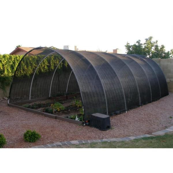 Shatex 90/% Shade Fabric Sun Shade Cloth with Grommets for Pergola Cover Canopy 6 x 10 Black