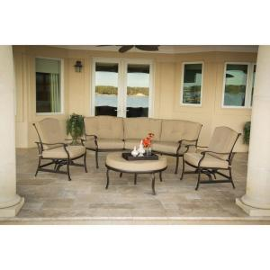 Hanover Outdoor Furniture Traditions 4-Piece Patio Seating Set with Natural Oat Cushions by Hanover