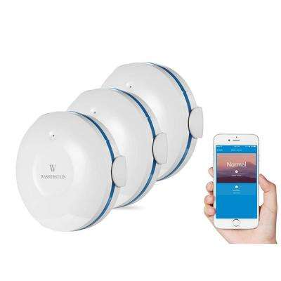 Smart Wi-Fi Water Sensor, Flood and Leak Detector Alarm and App Notification Alerts (3 Pack)