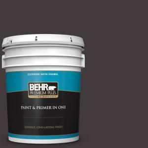 Behr Premium Plus 5 Gal Ppu17 20 Eclectic Purple Satin Enamel Exterior Paint And Primer In One 934005 The Home Depot