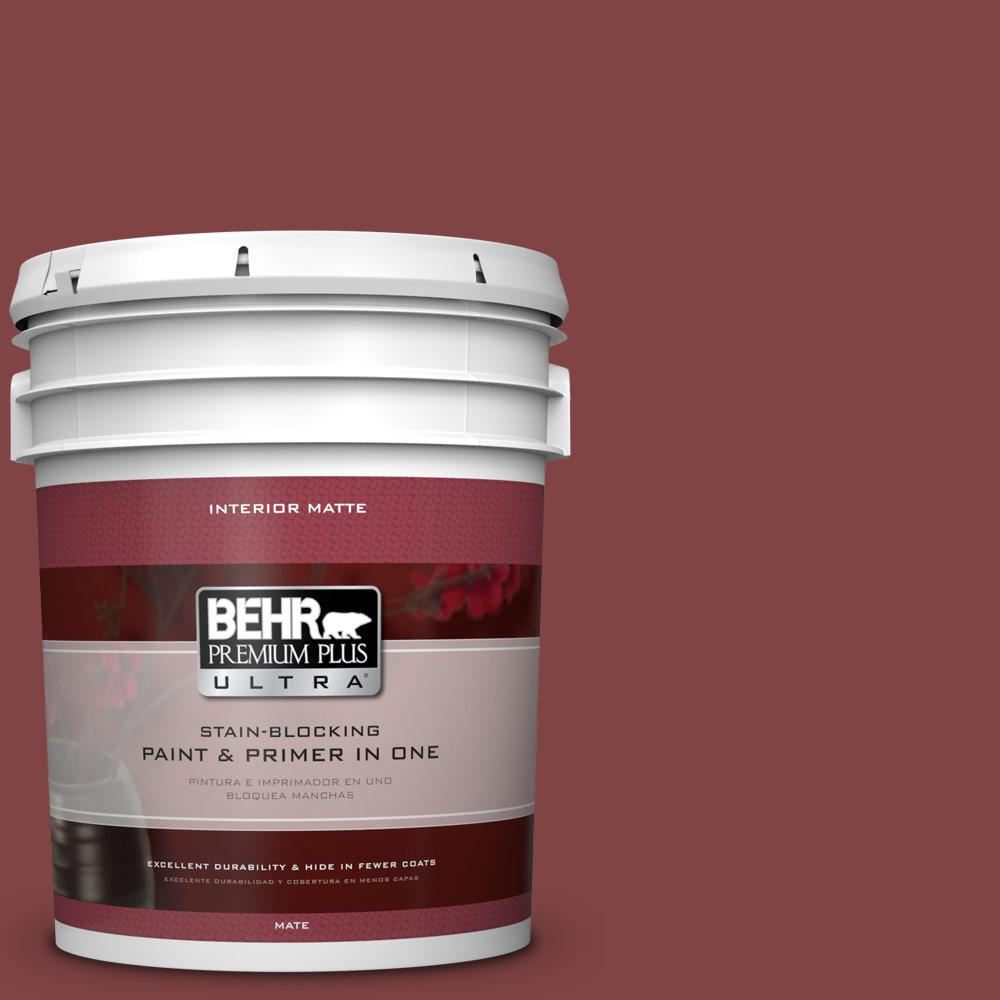BEHR Premium Plus Ultra 5 gal. #ECC-59-3 New Roof Flat/Matte Interior Paint