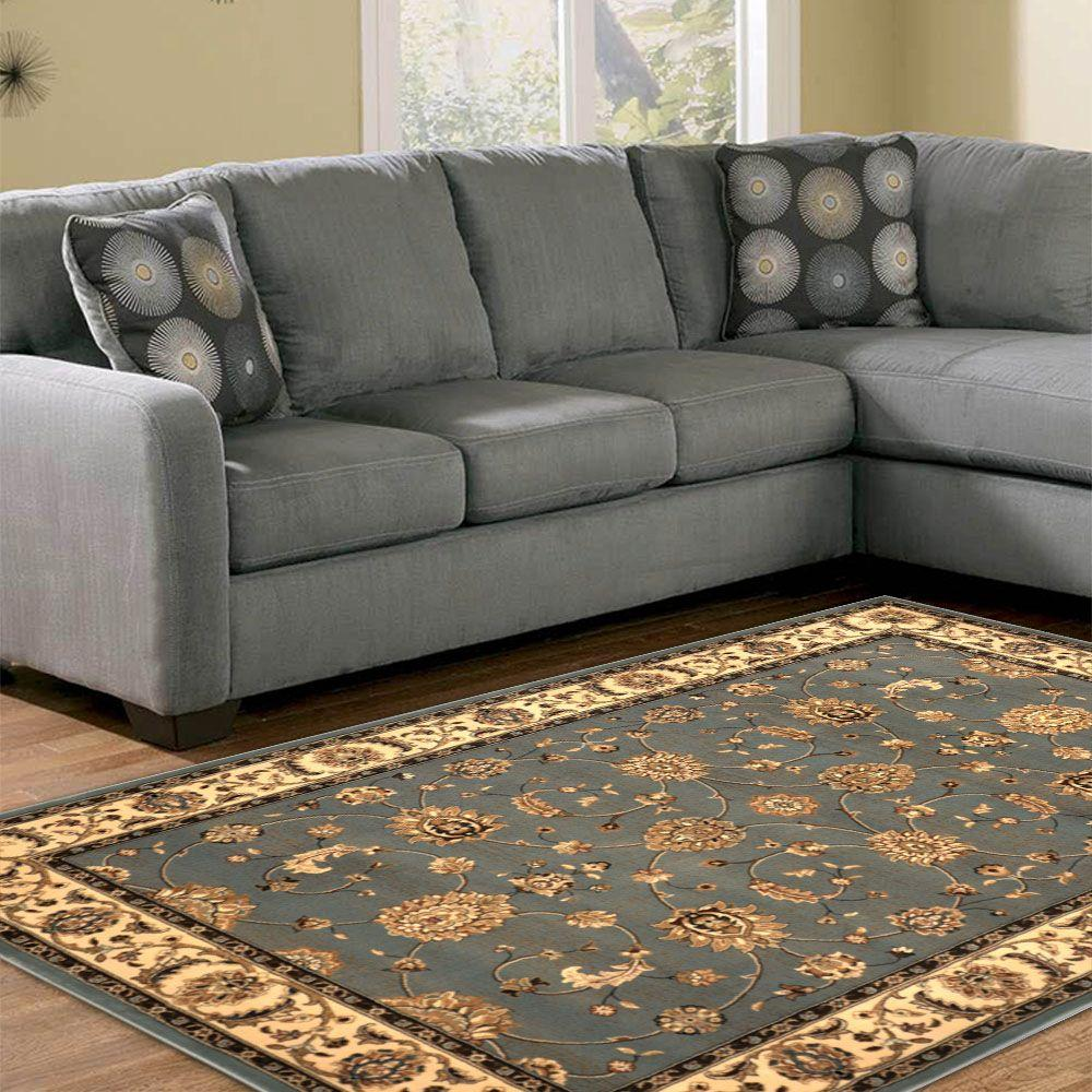 Home Dynamix Dynasty Gray/Beige 7 ft. 9 in. x 10 ft. 2 in. Indoor Area Rug