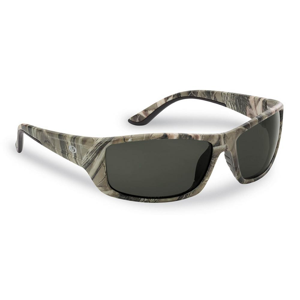 189d6297a8747 Flying Fisherman Buchanan Polarized Sunglasses Camo Frame with Smoke Lens