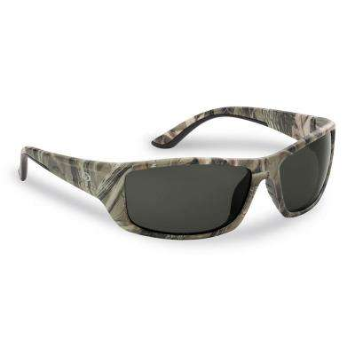 Buchanan Polarized Sunglasses Camo Frame with Smoke Lens